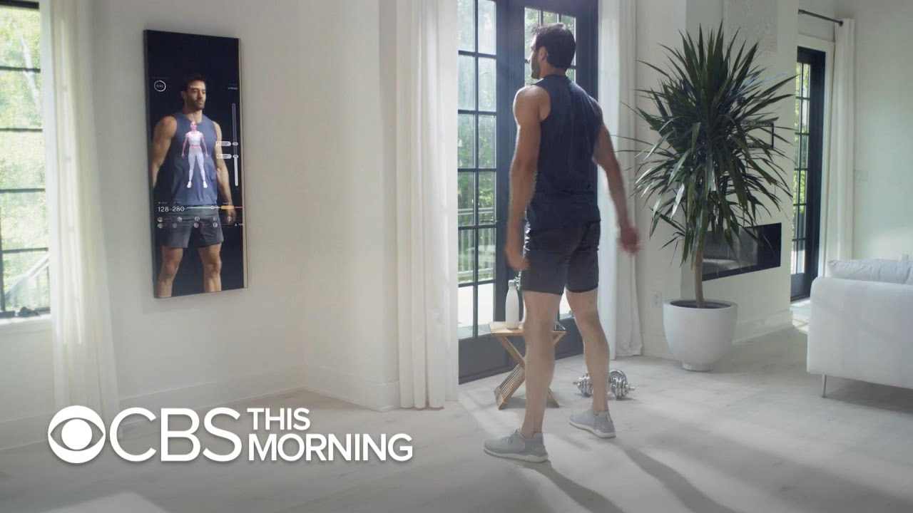 7fcc8977181 This smart mirror puts a personal trainer in your reflection - YouTube