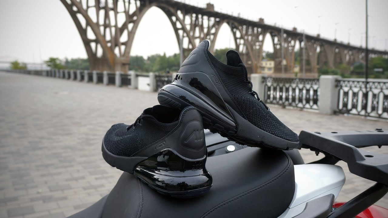the best attitude 9d63f 7a6f8 Nike Air Max 270 Flyknit all black