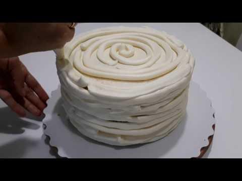 Крем чиз.  Выравнивание торта, очень подробно