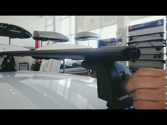 Установка багажной системы Terra B-Fix с алюминиевой поперечной планкой Wing