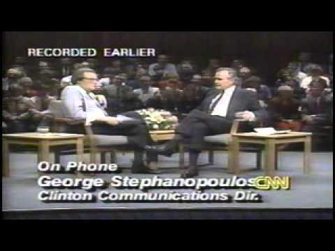 President George Bush VS George Stephanopoulos 1992