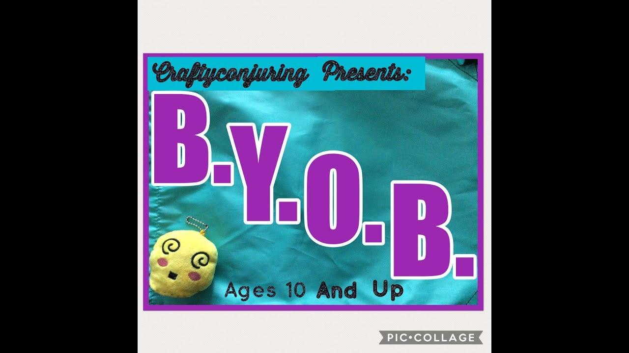d.i.y. B.Y.O.B. How to make a Cute shopping bag  Bring Your Own Bag Eco Friendly Reusable