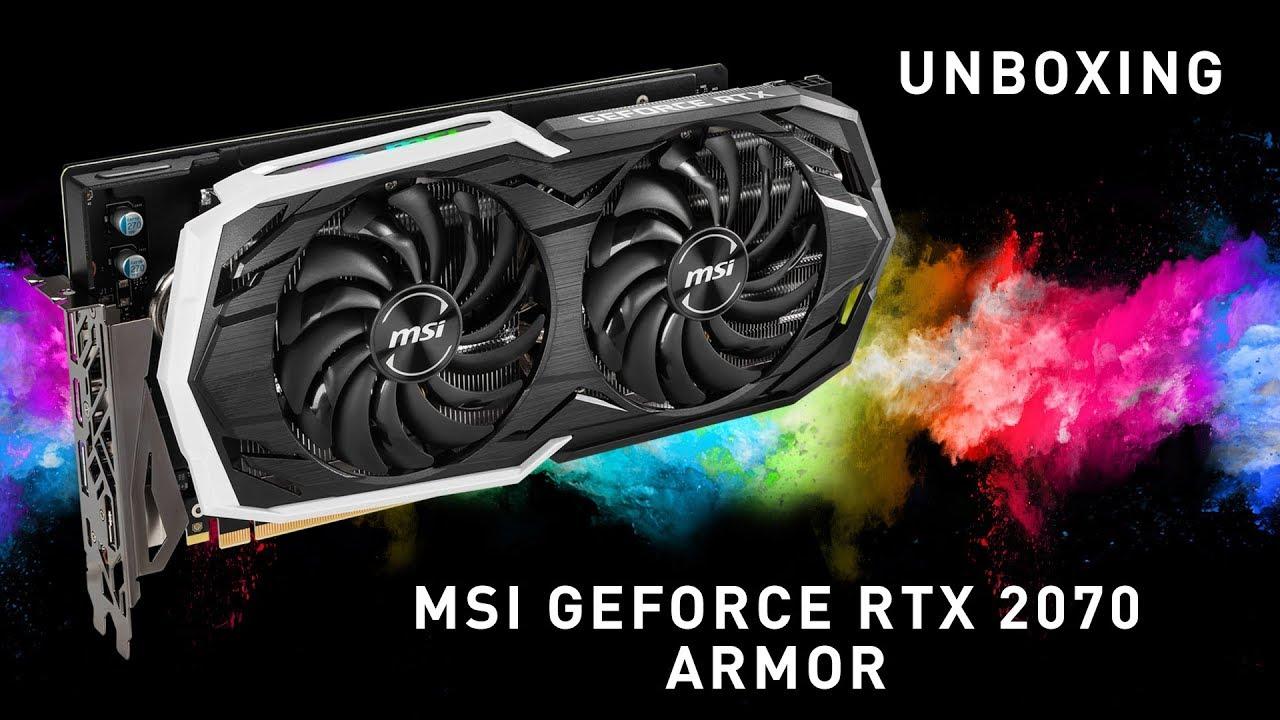 Розпаковуємо та розбираємо відеокарту MSI GeForce RTX 2070 ARMOR 8G