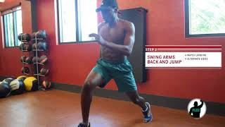 ALTERNATING LUNGE WITH A KNEE RAISE
