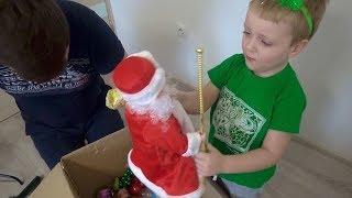 Прикрашаємо ялинку до НОВОГО року!!! Дід Мороз і купа ялинкових іграшок