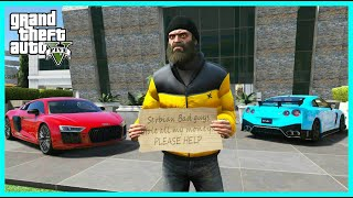 HOMELESS BECAME BILLIONAIRE IN GTA 5! (GTA 5 Mods)