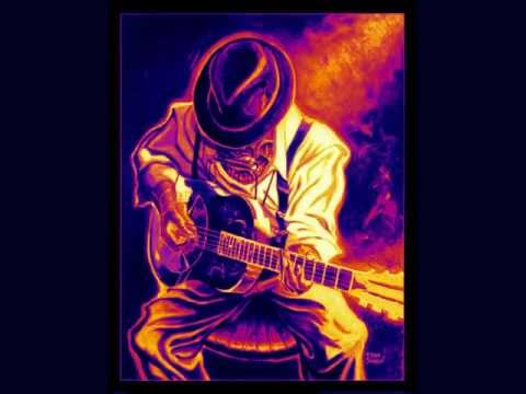 blues backing track am
