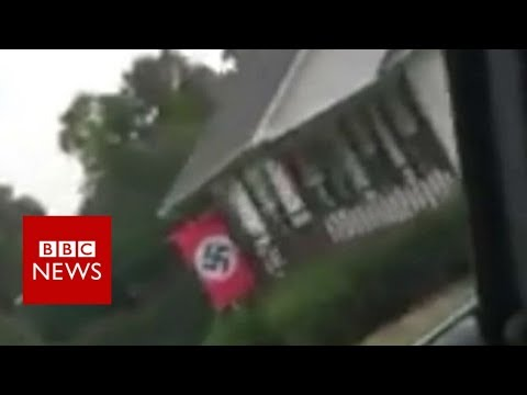 US woman confronts her neighbour over Nazi flag - BBC News