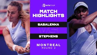 Aryna Sabalenka vs. Sloane Stephens | 2021 Montreal Round 2