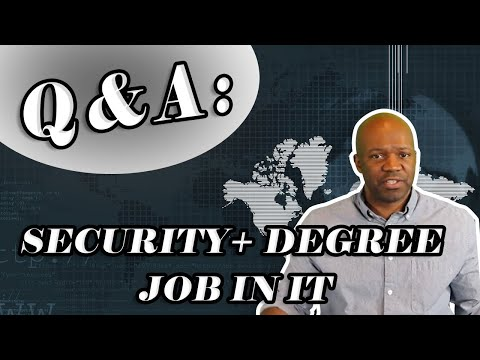 Security+ Degree job in IT security linkedin groups