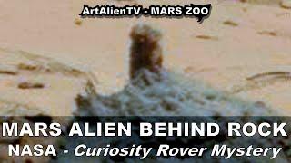 Mars Man Caught Behind Rock: NASA Curiosity Rover Mystery. ArtAlienTV - 738p