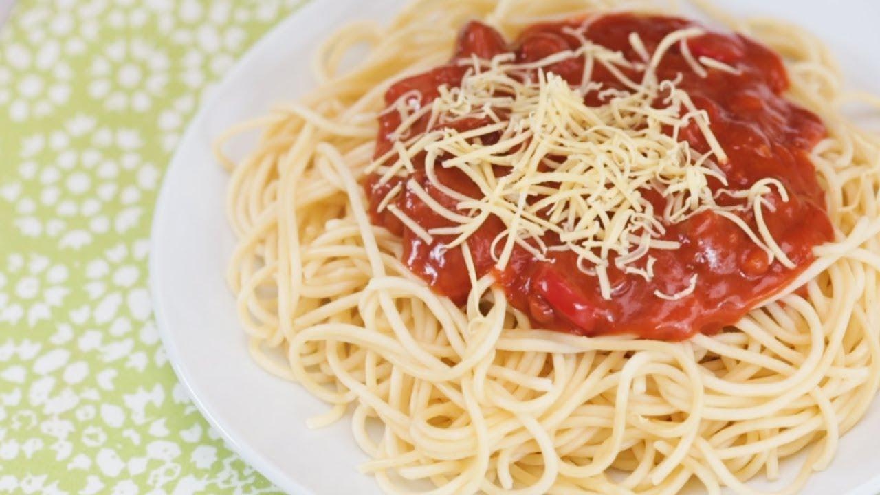 Jollibee-Style Spaghetti Recipe Hack   Yummy PH - YouTube