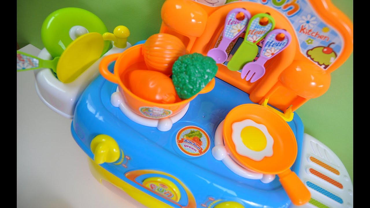 Fun Kitchen Toy Lights And Sounds Velcro Fruit Vegetables