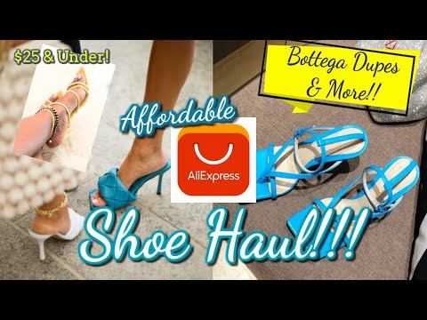 affordable-aliexpress-summer-shoe-try-on-haul!!!-|-under-$25-😱-|-bottega-dupes-&-more!-#aliexpress