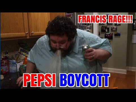 FRANCIS RAGES ABOUT PEPSI ADS!  BOYCOTTS!