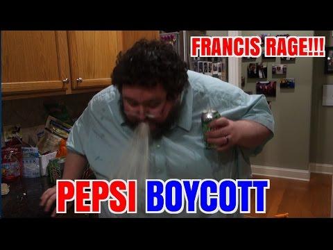 FRANCIS RAGES ABOUT PEPSI ADS!  BOYCOTTS!