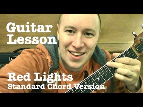 Red Lights ★ Guitar Lesson ★ Standard Chord Version ★ Tiesto