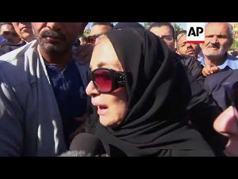Funeral of Egyptian actress and singer Shadia