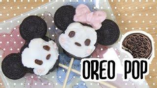 Disney Tsum Tsum Oreo Pop Tutorial - Minnie And Mickey Verツムツムのオレオポップつくってみたよ(ディズニー・ミッキー・ミニー)