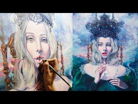 "S6 Timelapse: Beautiful Speed Painting of ""Self-Crowned"" by Tanya Shatseva"