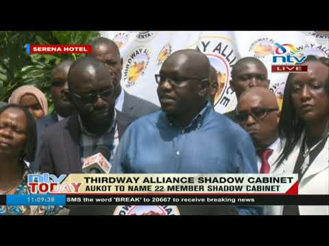 Thirdway Alliance party leader Ekuru Aukot names his 'shadow cabinet'