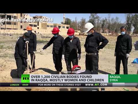 Mass graves with 1,200 civilians found in Raqqa, US-led coalition denies responsibility