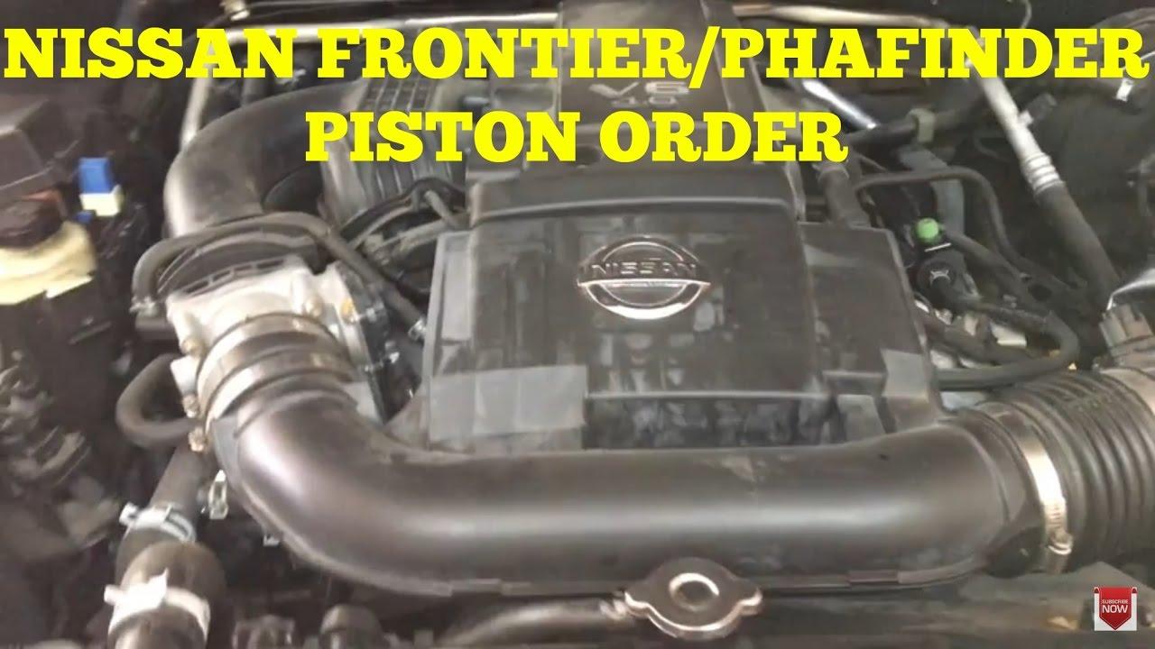 nissan frontier pathfinder piston order [ 1280 x 720 Pixel ]