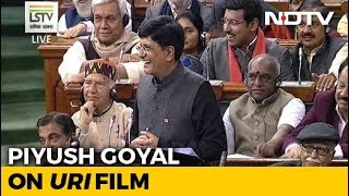 "Budget 2019: Piyush Goyal's ""Josh"" Moment, As Film 'Uri' Crops Up During Budget"