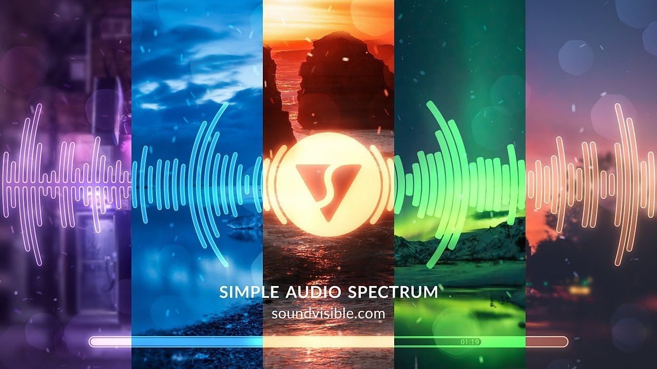 Simple Audio Spectrum Music Visualizer Template
