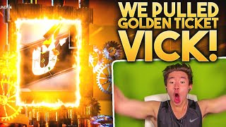 WE PULLED GOLDEN TICKET MICHAEL VICK! RAREST CARD IN MADDEN! Madden 20