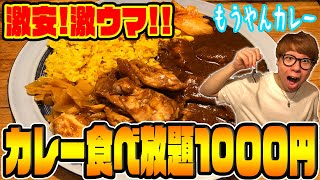 【食べ放題】コスパ最強!!もうやんカレーの1000円食べ放題が幸せすぎた!!