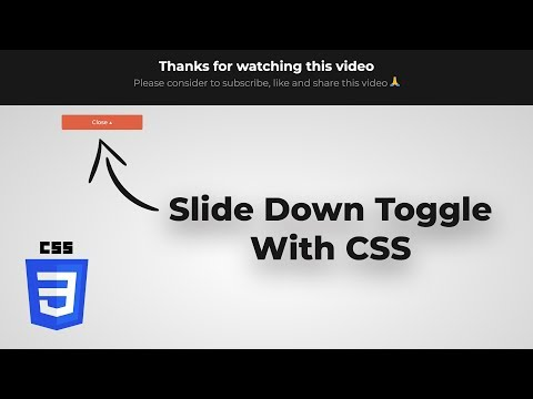 Slide Down Toggle Using Only CSS & HTML  (No jQuery) thumbnail
