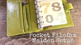 Pocket Filofax Malden Setup | Sam Plans