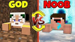 Minecraft Battle: NOOB vs GOD: SWAPPED PRISON ESCAPE CHALLENGE / Animation