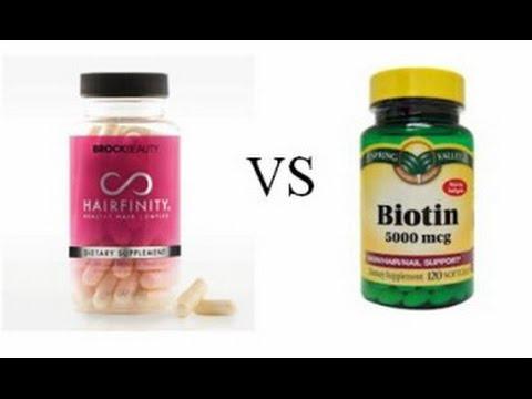 Biotin vs Hairfinity | Doovi