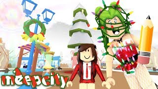 MEEPCITY DECORING MY SCHOOL FOR CHRISTMAS - ROBLOX