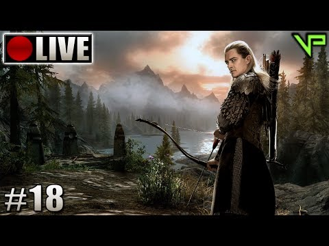 [🔴LIVE] SKYRIM - As desventuras de Legolas! (PC - Mods - PTBR) #18