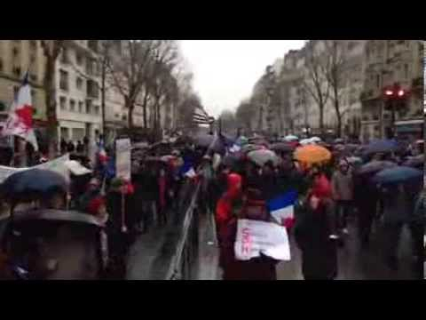 Bd du Montparnasse blindé  : la France diverse rassemblée