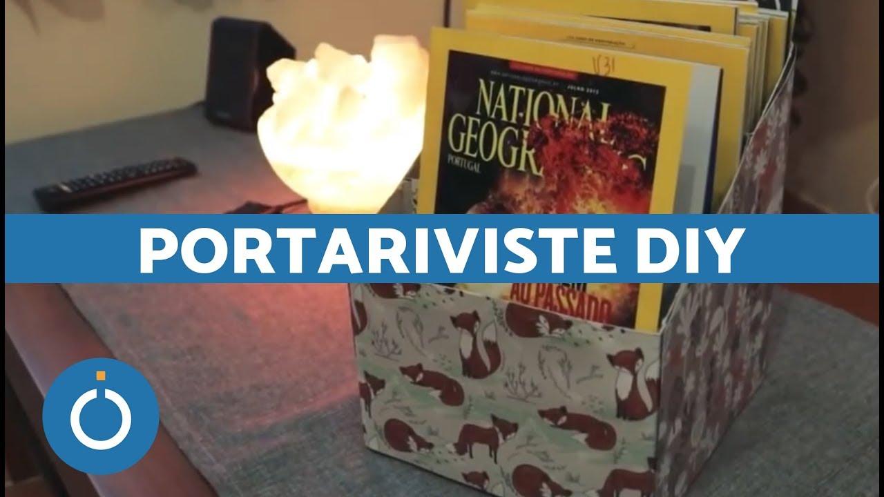 Portariviste fai da te cartone tutorial idee riciclo for Portariviste fai da te