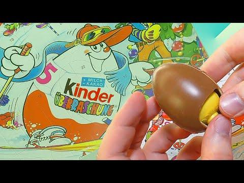 Видео, Kinder Surprise Рождественский календарь 2003 года, 24 раритетных киндера Adventskalender 2003