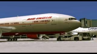 Fs2004 - Air India Take Off /  B777-200 [EDDF]