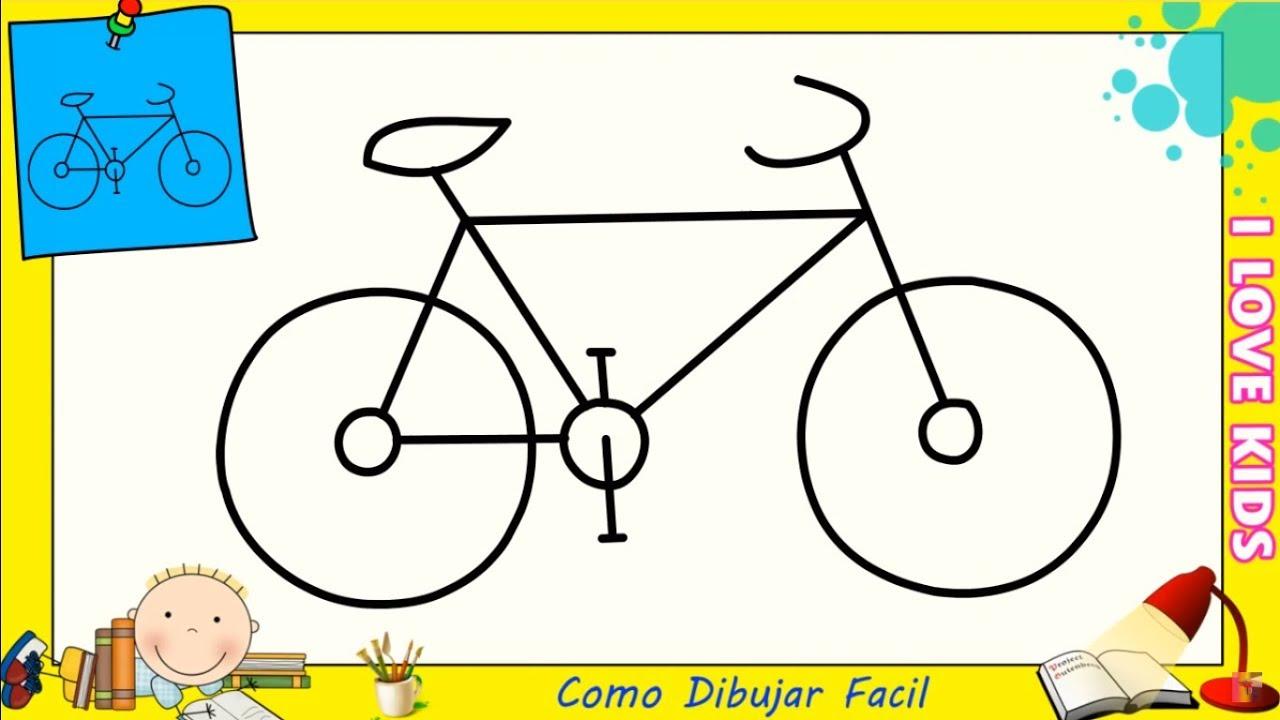 Como Dibujar Una Bicicleta Facil Paso A Paso Para Principiantes 3 Youtube