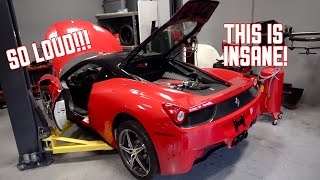 My Ferrari 458 is ALIVE! First Start and Rev