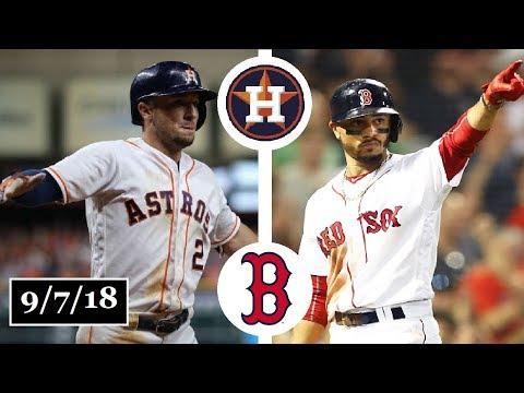 Houston Astros vs Boston Red Sox Highlights || September 7, 2018