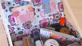 DIY. Как сделать  Органайзер  для личного дневника, Скетчбука. Коробка для личного дневника