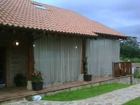 Telas y cosas cortinas para un porche 0001 youtube for Como hacer una cortina para exterior