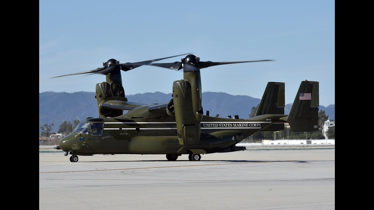 Marine Helicopter Squadron One (HMX-1) at LAX - YouTube