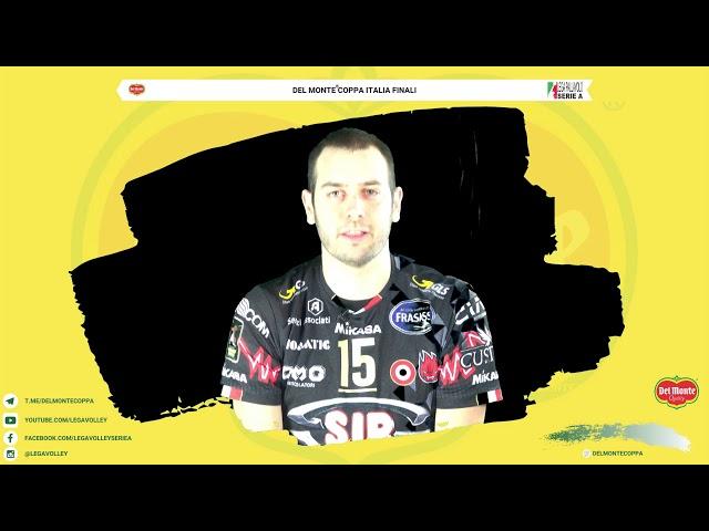 21-02-2020: Luciano De Cecco si presenta alla Final4 di Del Monte Coppa Italia