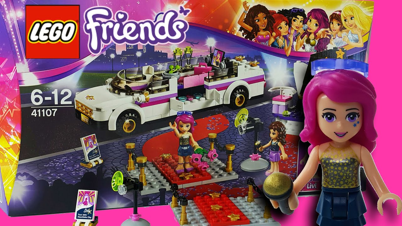 Pop Star Limo Lego Friends 41107 - YouTube
