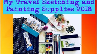 Travel Sketching and Painting Supplies